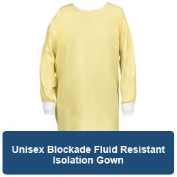 Unisex Blockade Fluid Resistant Isolation Gown