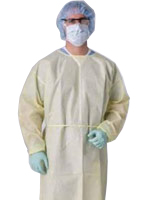 LIGHTWEIGHT DISPOSABLE ISOLATION GOWNS