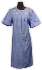 Wonderful Womens Sleeveless Zipper Gingham House Dress House Coat Duster